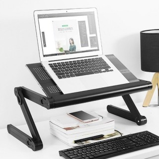Bàn Để Laptop Xoay Đa Năng - Bàn Laptop Gấp Gọn Quay 360 Upro BLT1 2 Quạt Tản Nhiệt Bàn Di Chuột Riêng - Phù Hợp Mọi Tư Thế, Bàn laptop đa năng 360 độ có 2 quạt tản nhiệt. ( BẢO HÀNH 12 THÁNG ) thumbnail