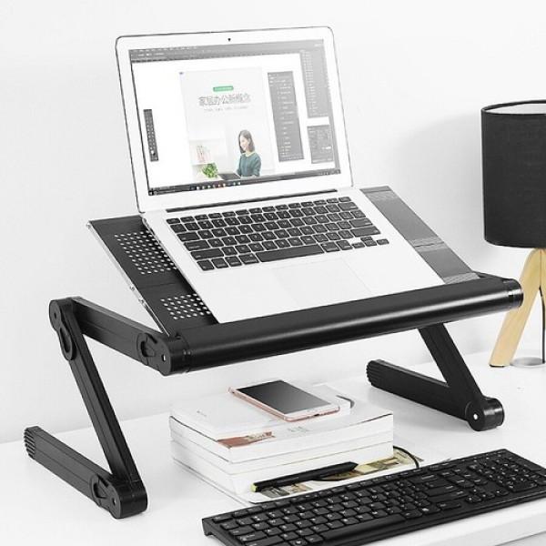 Bảng giá [HCM]{ SALE GIÁ SỐC } Bàn kê laptop xoay 360 độ Đa Năng chân là hợp kim sơn tĩnh điện nhẹ và tiện lợi khi di chuyển. Bàn kê laptop xoay 360 độ có thể xoay nhiều kiểu kiểu dáng hiện đại có khả năng chịu được trọng lượng 15kg.