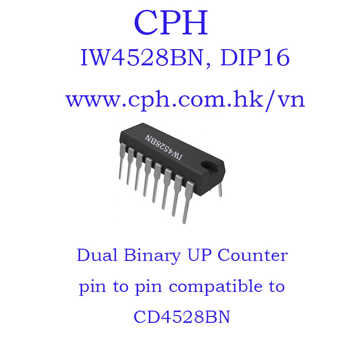 Giá 5pcs IW4528BN CD4528BN IW4528 CD4528 DIP16 IKSemicon Dual Monostable Multivibrator