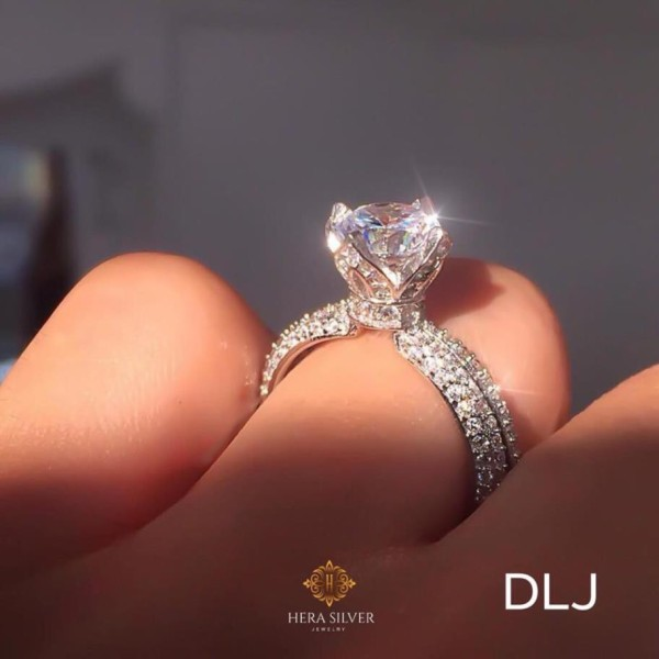 Nhẫn bạc 925 đính đá cao cấp mẫu mới thời trang [ Cam kết chuẩn bạc sáng đẹp, chất lượng đảm bảo]