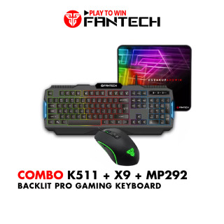 Combo FANTECH Basic Set Bàn Phím Gaming K511 + Chuột X9 + Lót Chuột MP25 MP80 - Hãng Phân Phối Chính Thức thumbnail