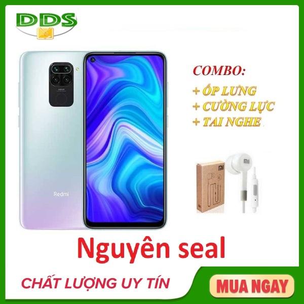 Combo điện thoại Xiaomi Redmi 10X 4/128Gb LTE + Ốp lưng + Cường lực + Tai nghe - Hàng nhập khẩu