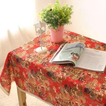 สไตล์ญี่ปุ่นลายญี่ปุ่นผ้าฝ้ายผ้าฝ้ายและผ้าลินินผ้าปูโต๊ะสีแดง HUADO ผ้าเส้นใยผ้าชากังฟูการตกแต่งผ้าปูโต๊ะ