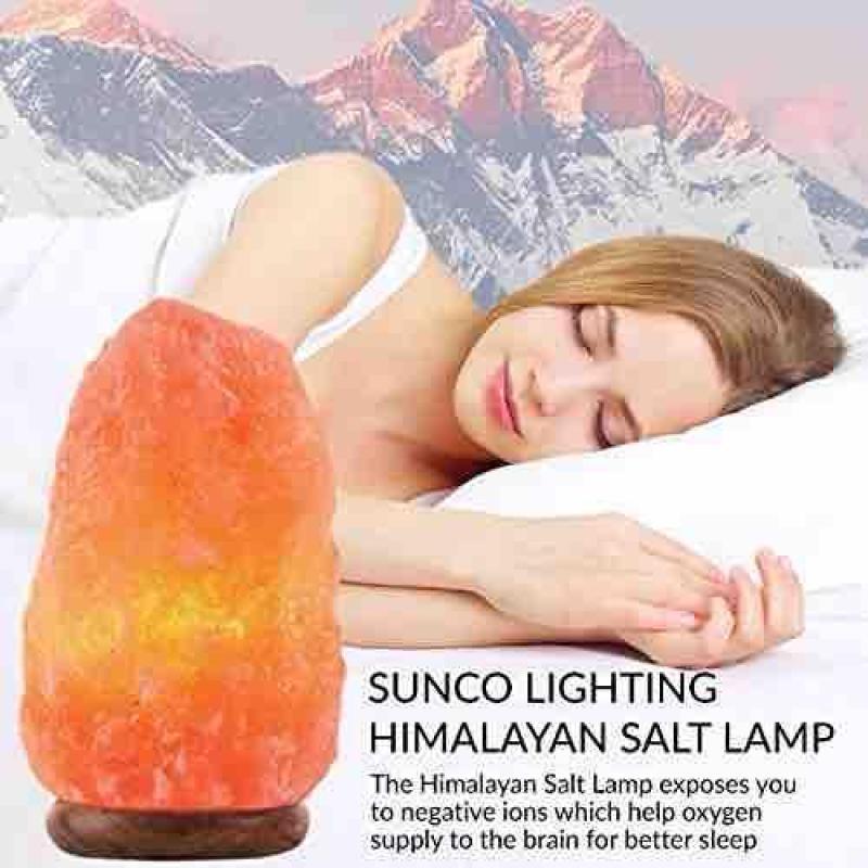 Đèn Đá Muối Himalaya Cao Cấp (Từ 3kg-4kg)+ tặng ngay 1 vòng đá phong thủy cao cấp khi mua từ 2 sp trở lên cao cấp