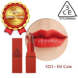 Son Lì 3CE Red Recipe Matte Lip Color 211 Dolly - Màu Đỏ Cam thumbnail