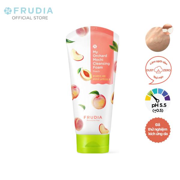 [H&B GIFT] Sữa Rửa Mặt Chiết Xuất Trái Đào Frudia My Orchard Mochi Cleansing Foam Peach 30ml giá rẻ