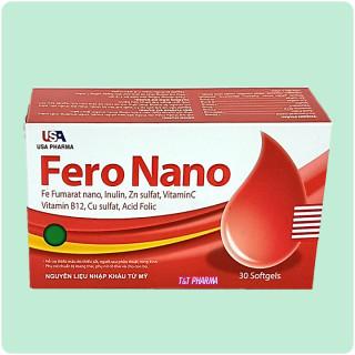viên uống bổ sung sắt Fero Nano Giúp bổ sung Sắt, Acid Folic cho người thiếu máu não, phụ nữ mang thai và sau sinh hộp 30 viên 3
