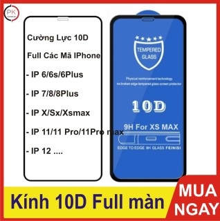 Cường Lực Iphone Full màn 10D - Cường lực IPhone full các mã thumbnail