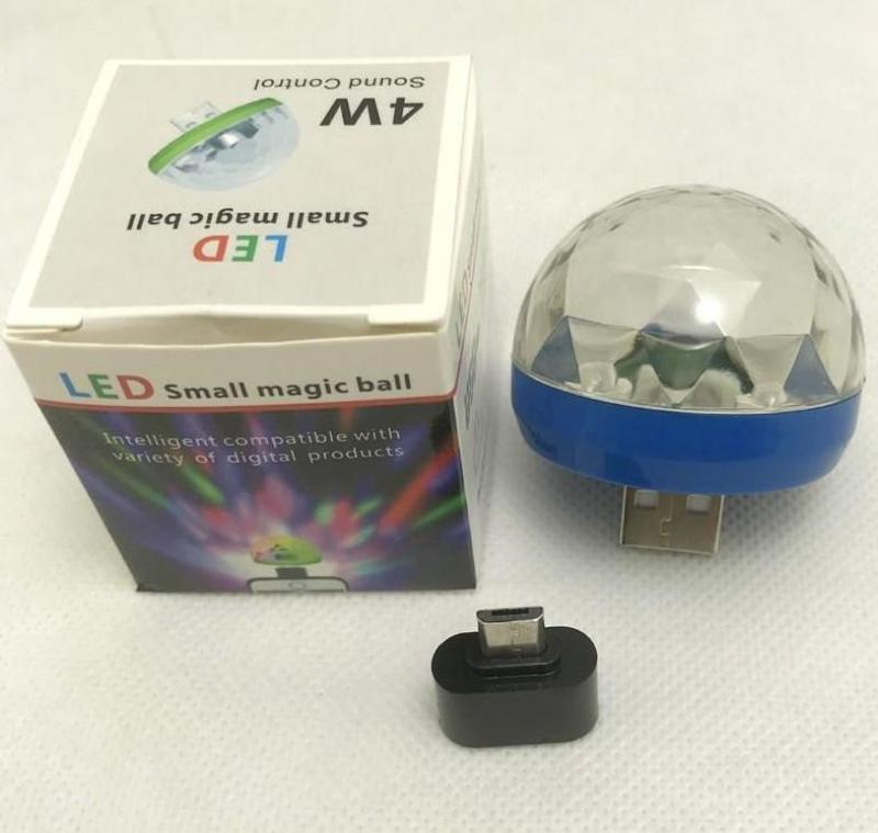 Đèn Led Vũ Trường USB Cảm Ứng Theo Nhạc (Có zắc chuyển chân vào điện thoại) - Có Video