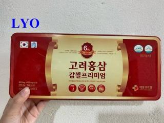 Viên đạm sâm Daedong cao cấp - Korea Red Ginseng Capsule Premium 120g thumbnail