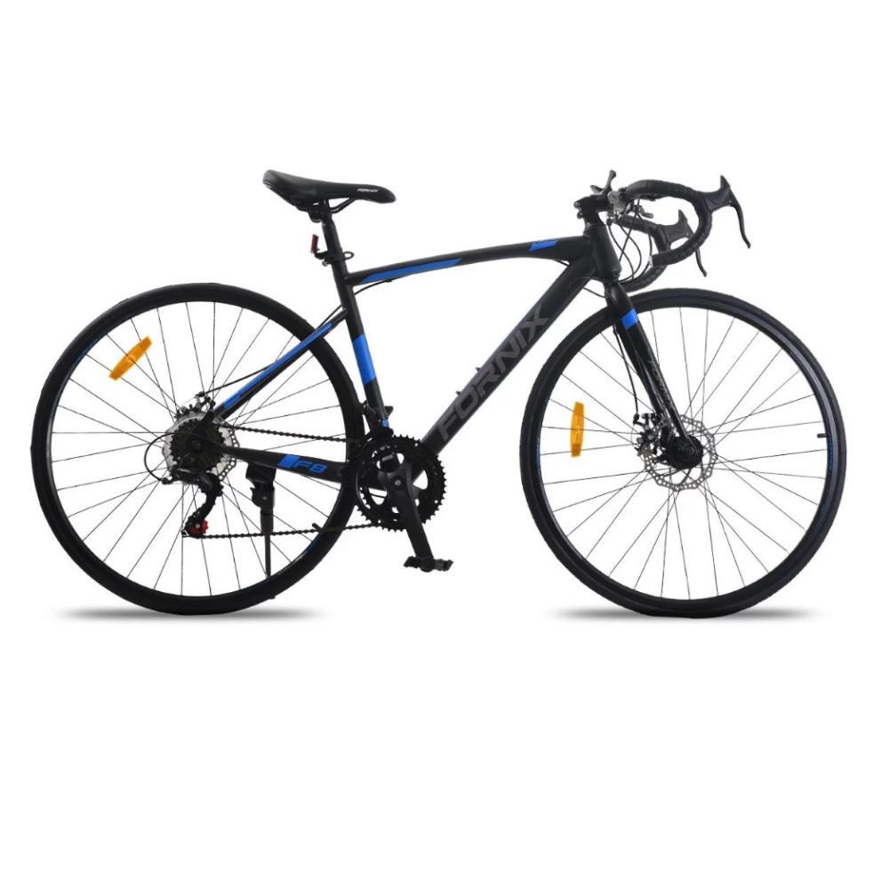 Mua Xe đạp đua Fornix F8, Khung Sườn hợp kim thép cao cấp, tay đề SHIMANO, bộ truyền động SHIMANO, tốc độ 14, vòng bánh 29, màu Xám - Xanh Dương - Đen
