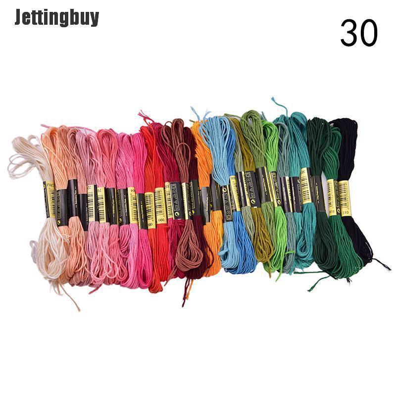 Jettingbuy 150Pc Cotton Cross Floss Stitch Chủ Đề Thêu Thêu Skeins Nhiều Màu Sắc