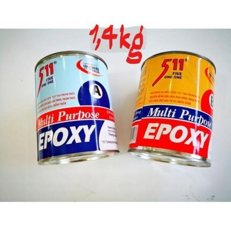 Keo epoxy 511 dán sắt gạch đá gỗ nhựa 1,4kg (2x700gr)