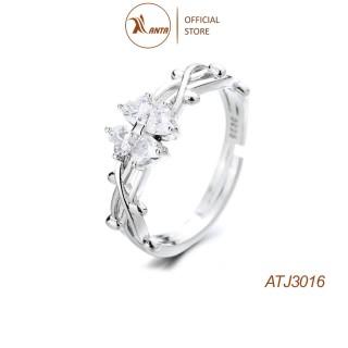 Nhẫn Bạc 925 Hình Cỏ Bốn Lá Đính Đá Xinh Xắn Cho Nữ ANTA Jewelry - ATJ3016 thumbnail