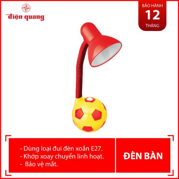 Đèn bàn Điện Quang ĐQ DKL01 RY BW (kiểu trái banh, đỏ vàng, bóng warmwhite)