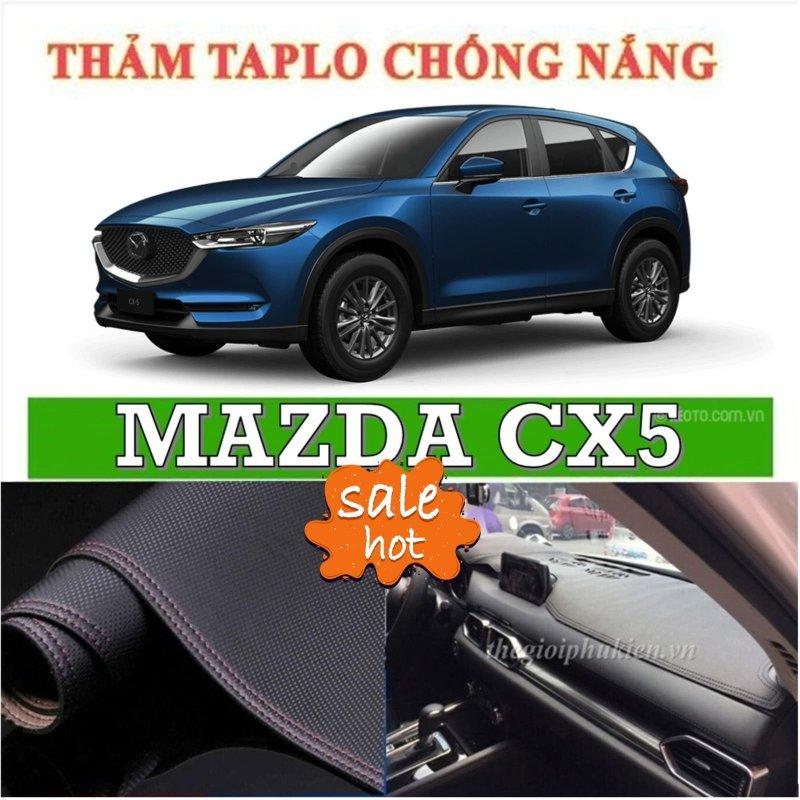 Thảm phủ taplo da xe Mazda CX5 2019, thảm taplo da vân cacbon -Nhà Buôn Đồ Chơi Xe Hơi