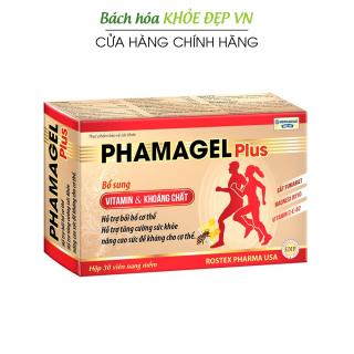 Viên uống bổ sung vitamin tổng hợp và khoáng chất Phamagel Plus bồi bổ cơ thể, tăng cường sức khỏe, tăng sức đề kháng - Hộp 30 viên dùng 30 ngày thumbnail