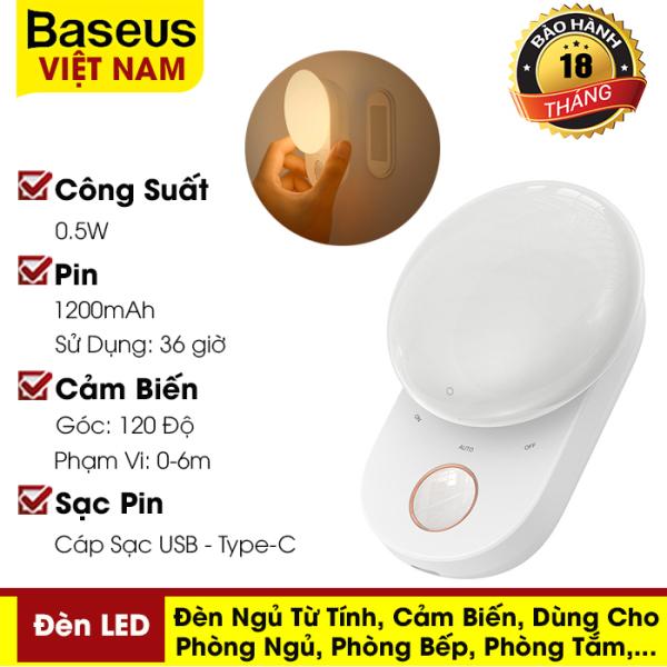 Đèn ngủ từ tính Baseus, đèn LED cảm ứng, cảm biến có thể tháo rời dùng cho phòng ngủ, phòng bếp, tủ quần áo,... - phân phối chính hãng tại Baseus Việt Nam