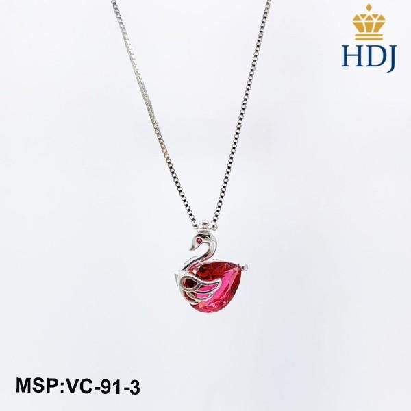 Dây chuyền bạc Ý 925 Hình Thiên Nga đính đá đẹp trang sức cao cấp HDJ mã VC-91-3