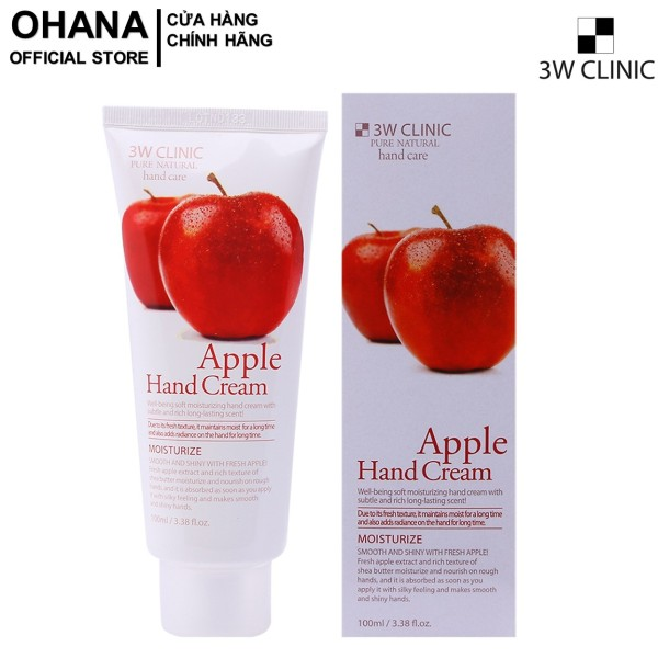 Kem Dưỡng Da Tay Hương Táo 3W Clinic Apple Hand Cream 100ml giá rẻ