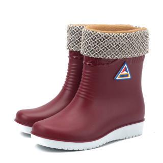 Giày Bệt Nữ RTER MALL Giày Thể Thao Mũi Tròn Chống Trượt Ủng Đi Mưa Chống Thấm Nước