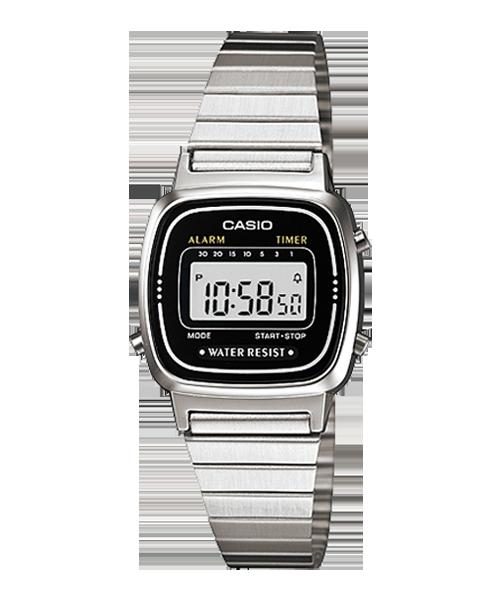 Đồng hồ Casio NữLA670WA-1 bảo hành chính hãng 1 năm - Pin trọn đời