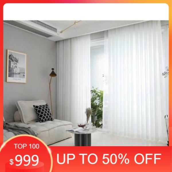 Rèm voan trắng xước,nhiều kích thước may sẳn trang trí decor phòng.