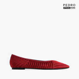 PEDRO - Giày đế bệt mũi nhọn Satin Velvet Pointed Toe PW1-66220016-08 thumbnail