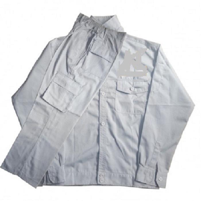 Bộ Quần và áo Bảo Hộ Lao Động Màu Xám Ghi