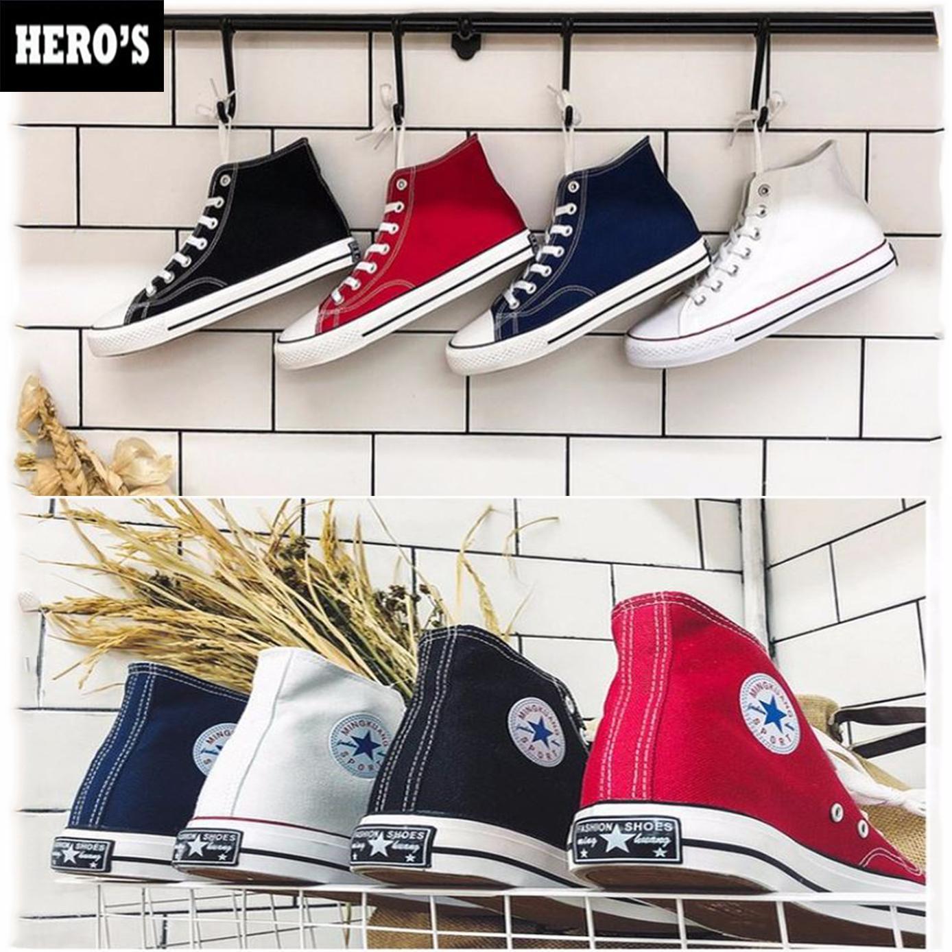 Mã Khuyến Mại tại Lazada cho Giày Sneaker Vải Cao Cổ Nam Nữ Hàn Quốc - Giày Thể  Vải Nam Nữ Hàn Quốc - Giày Đôi - Giày Cao Cổ - Giày Vải - (GIÁ CỰC RẺ)