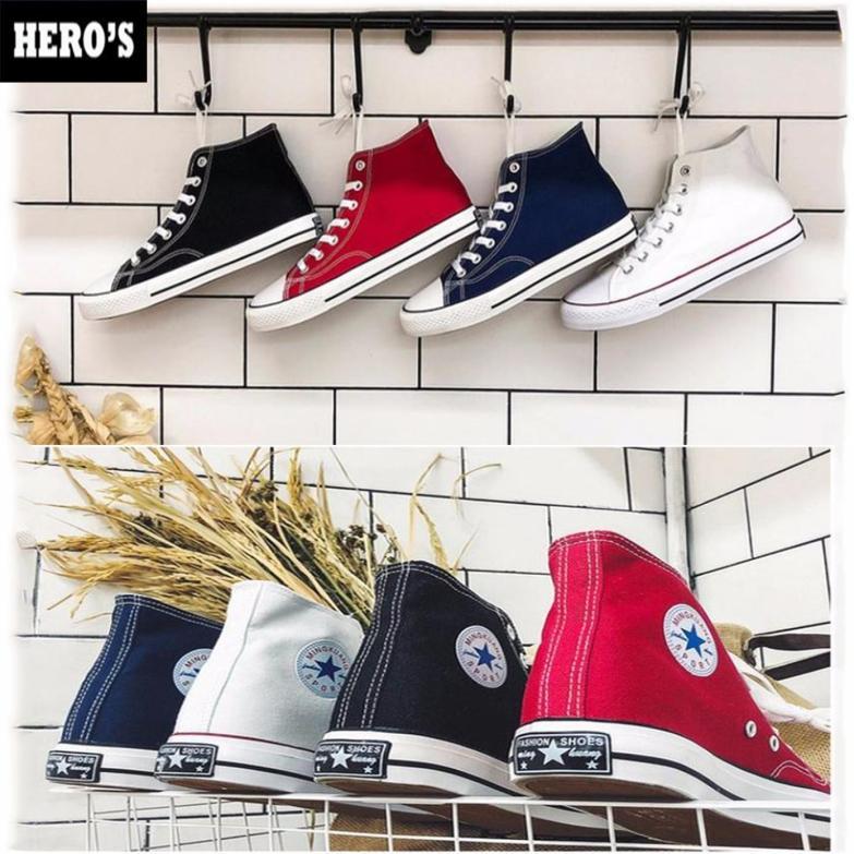 Giày Sneaker Vải Cao Cổ Nam Nữ Hàn Quốc - Giày Thể  Vải Nam Nữ Hàn Quốc - Giày Đôi - Giày Cao Cổ - Giày Vải - (GIÁ CỰC RẺ) giá rẻ