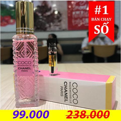 Nước hoa mini Cao Cấp COCO ChaneI Eau De Parfum 20ml + Tặng kèm mẫu test cao cấp 3ml nhập khẩu
