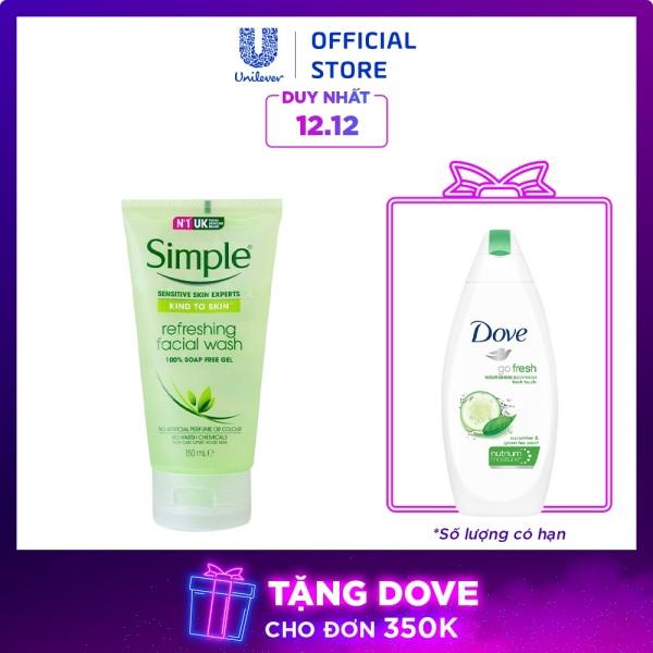 Gel rửa mặt Simple Refreshing Facial 150ml nhập khẩu