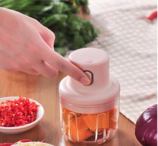 Máy xay tỏi ớt mini đa năng loại tốt 250ml, xay thịt,say sinh tố,xay đồ ăn dặm cho bé giá rẻ hơn máy xay thumbnail