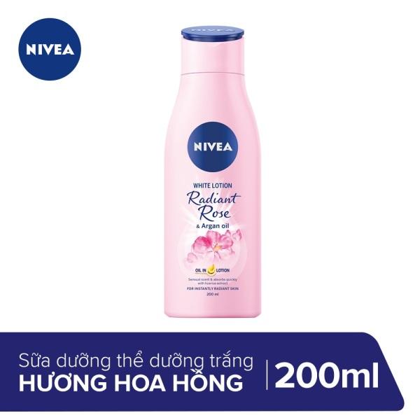 Sữa dưỡng thể dưỡng trắng Nivea Radiant Rose 200ml 85706