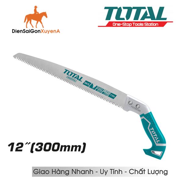 Cưa gỗ, cưa cành cầm tay lưỡi thẳng 300mm 12 inch 7TPI Total THT5113006