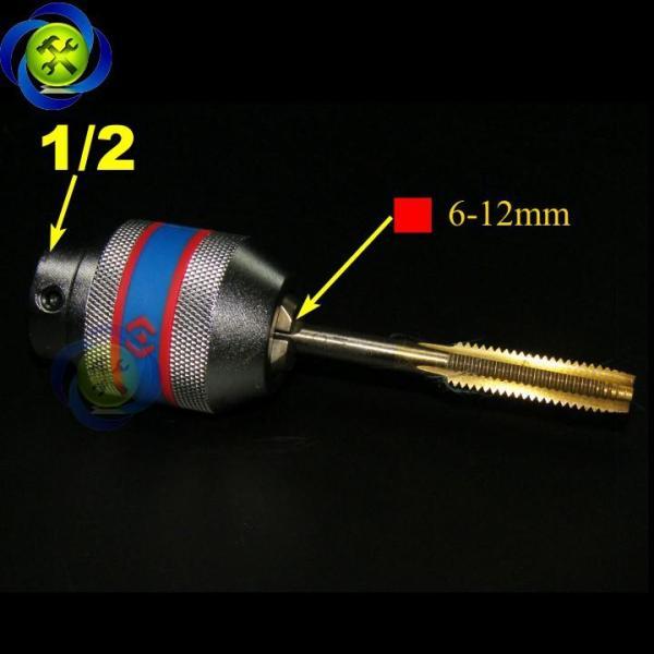 Đầu vặn taro Kingtony 39124012M loại 1/2 lỗ vuông 6mm-12mm