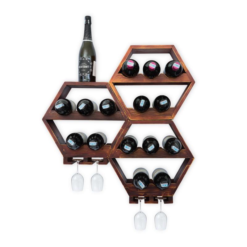 Kệ Rượu Treo Tường KR30