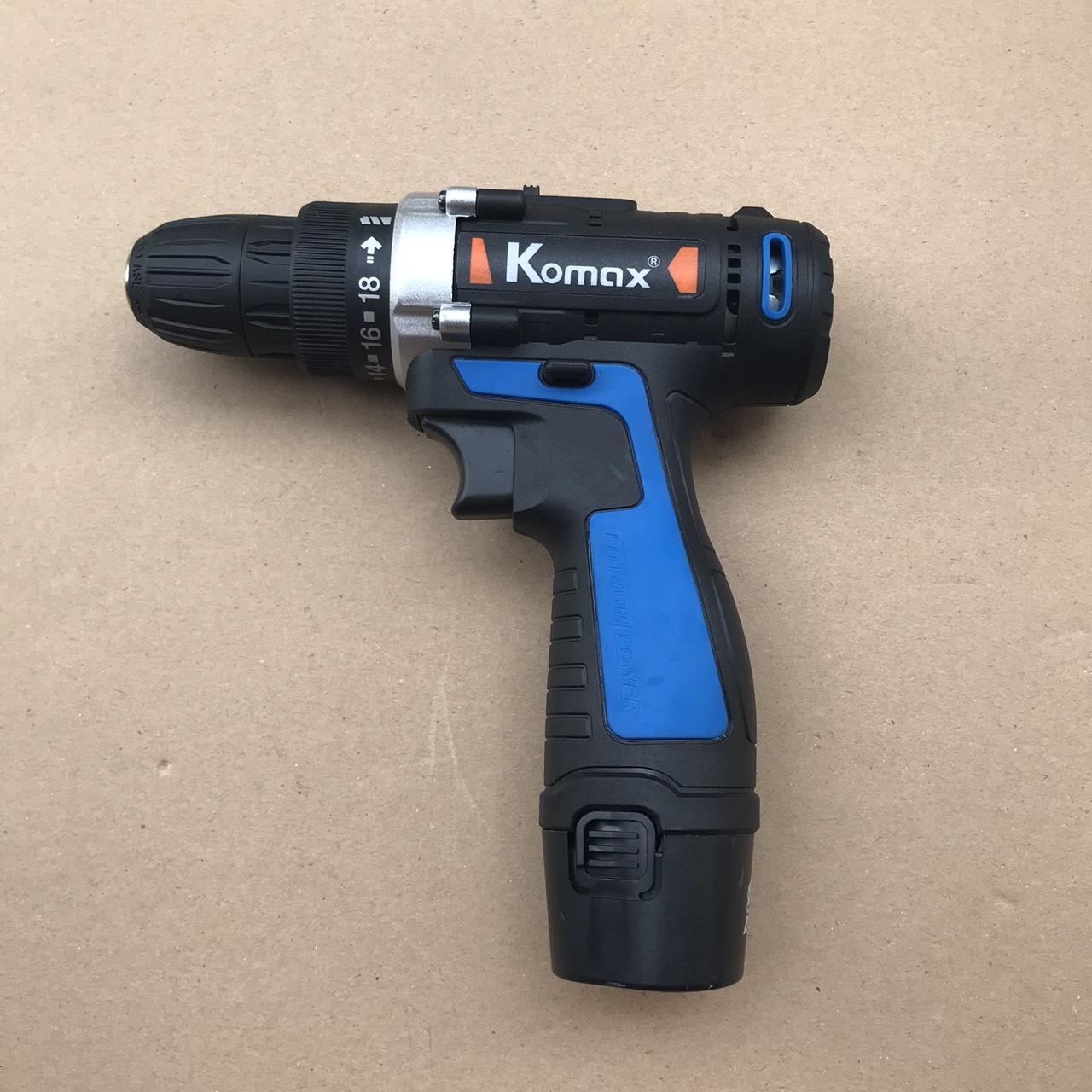 Máy khoan pin Komax 12V
