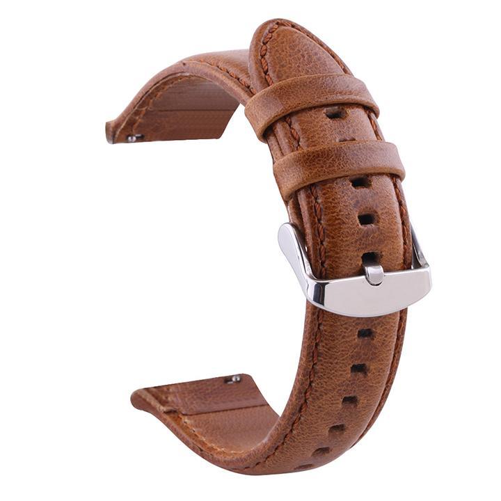 Nơi bán Dây đồng hồ da bò dùng chốt thông minh, dây da bò cho smart watch - D1911