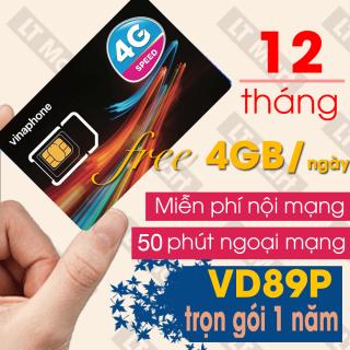 Sim 4G Vina 12VD89P gói 4GB ngày Trọn gói 1 năm + 50 phút gọi ngoại mạng + Miễn phí gọi nội mạng Vinaphone thumbnail