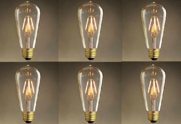 Bóng đèn Led Trang trí Nghệ thuật edison ST 64 - Ánh sáng vàng 4W