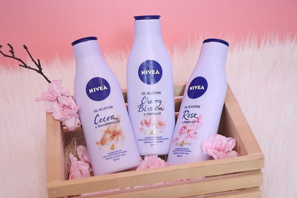 Sữa Dưỡng Thể Nivea Hương Hoa Anh Đào (200ml/chai) nhập khẩu