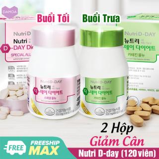 Combo 2 Hộp Viên Giảm Cân Nutri D-Day Ức chế chất béo, Giảm cảm giác thèm ăn Diet Special Garcinia Cambogia & Diet Green Tea thumbnail