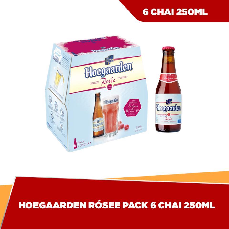Hoegaarden Rosée chai 250ml - Pack 6 Nhật Bản