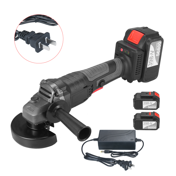 21V Brushless Angle Grinder Tool 100mm Variable Speed 4.0Ah Lithium-Ion Electric Cordless Grinding Machine Metal Cutter with Side Handle