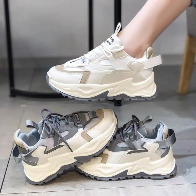 Giày thể thao nữ đế gồ siêu đẹp 2 màu hot TREND Gzi giá rẻ