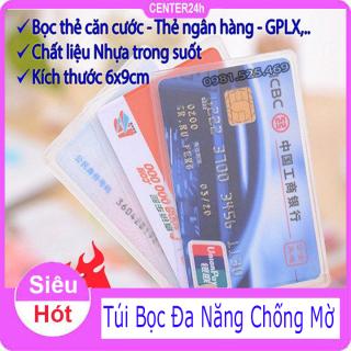 [ Vừa bán vừa tặng ] Combo 5 Túi đựng thẻ căn cước công dân, bằng lái xe, ATM, Card visit, CMND - Center 24h thumbnail