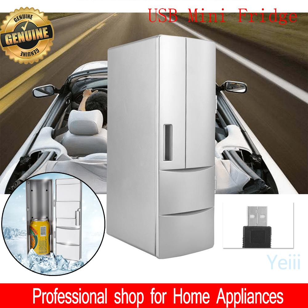 【Fast Freeze】【Mini Portable】5 minutes freeze USB Fridge Freezer Refrigerator Cooler and Warmer For Home Office Car Boat Out Door
