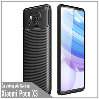 Ốp lưng dành cho Xiaomi Poco X3 NFC chống sốc Carbon thumbnail
